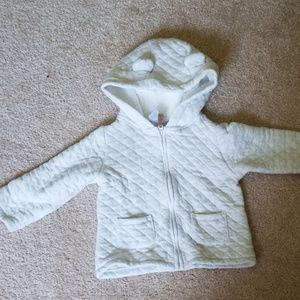 White bear ear sweater
